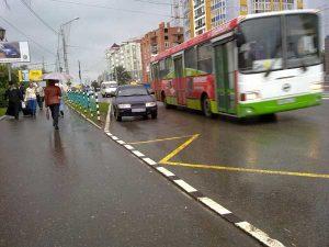 Правила остановки личного транспорта в пределах автобусной остановки